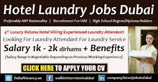 Laundry Jobs In Dubai Hotels Offering Good Salary Nov 2019