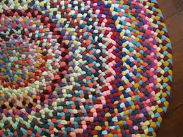 ooak colorful braided round rug in upcycled cotton colorful round bathroom rugs