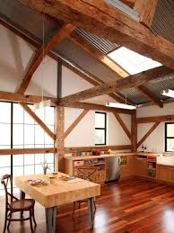 cathedral ceiling with wood beams home design ideas