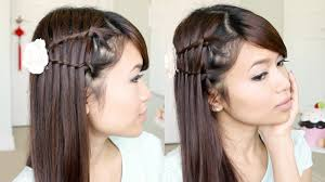 You Tube Hair Style double waterfall twist hairstyle for medium long hair tutorial 7026 by wearticles.com