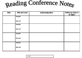 26 Images Of Reading Conference Notes Template Bfegy Com