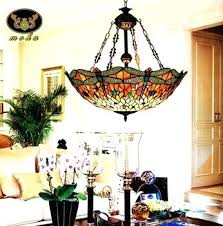 amazing ideas dining room light dragonfly stained glass chandelier living on