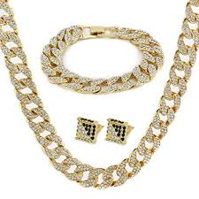 gold color tone br fully cz iced out 15mm 30 hip hop miami cuban chain