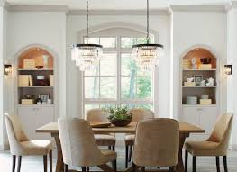 two chandeliers set the tone in your dining room lights com blog