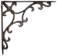 whole ornate fleur de lis iron shelf brackets low s iron wall shelf black metal wall