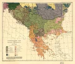 ethnographic map of the balkan peninsula  world digital library