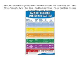 Heart Beats Per Minute Chart Read And Download Rating Of Perceived Exertion Chart Poster