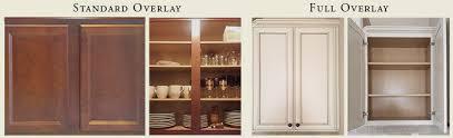 full overlay cabinets vs standard