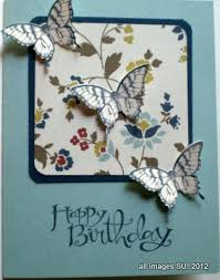 Stampin Up Elegant Butterfly Punch Birthday Cards And More