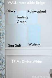 watery paint colorChoosing Paint for the Dining Room  Sherwin Williams Sea Salt
