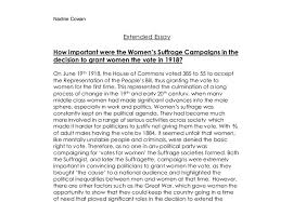 how important were the women s suffrage campaigns in the decision document image preview