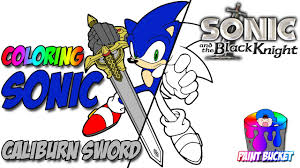 Small Picture Coloring Sonic the Hedgehog with Sword Sega Video Games Coloring