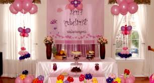 home decoration for 1st birthday party baby girl first birthday