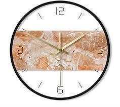 Gddyzs Orange Marble Texture <b>Printed Wall</b> Clock <b>Rock Stone</b> Style ...