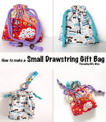 small reusable drawstring gift bag tutorial make a reusable bag for gift