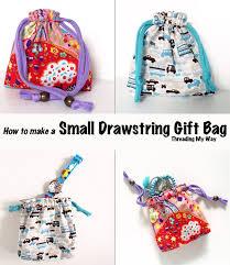 small reusable drawstring gift bag tutorial make a reusable bag for gift