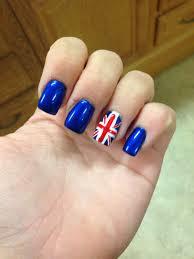 England Flag Nail Designs British Flag Nails Nail In 2019 British Flag Nails
