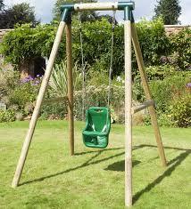 rebo pluto baby wooden garden swing set