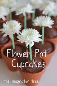 Easy Flower Pot Cupcakes The Imagination Tree
