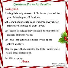 Want something new but memorable. A Family Christmas Prayer