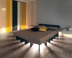 modern platform bed with lights. Latest Custom Under Bed Bedroom Lighting Idea With Queen Size Platform And Grey Wall Color Modern Guest Lights. Lights L