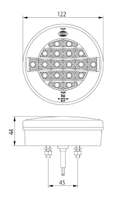 dasteri 3 function rear led lamp 873 Bobcat Wiring Diagram reference number dsl 230std bobcat 873 wiring harness diagram