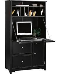 Desks Oxford Tall Secretary Desk in Black 5020700210