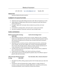 Medical Assistant Resume Objective Awesome Medical Assistant Resume