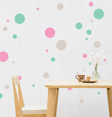 coloured polka dot wall stickers