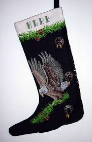 Cross Stitch Stocking Patterns Stunning Eagle Moccasin Stocking Cross Stitch Pattern Christmas