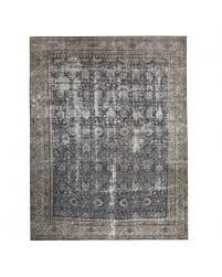 antique tabriz in wool blue beige 11 04 x