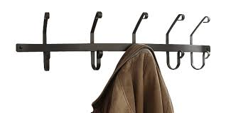 wrought iron 5 hook coat rack wall