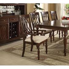 dining room chairs walnut finish. acme united unique beautiful designed chairs walnut finish table 9pcs dining set framed back cushion seat chair room b