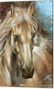 2019 horse head high definition artwork unframed wall art on animal oil painting on canvas design high quality from youmeart8888 19 09 dhgate com