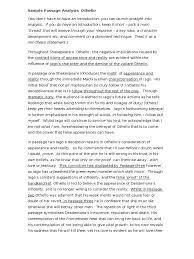 othello sample passage analysis doc iago desdemona