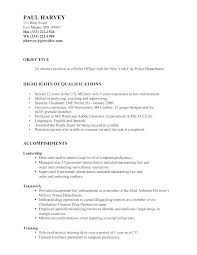 Law Enforcement Resume Objective Magnificent Law Enforcement Officer Resume Sample Police Examples Top Rated