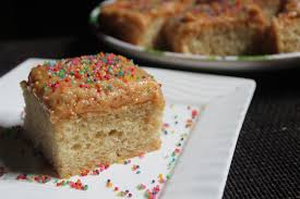 Eggless Vanilla Cake With Peanut Butter Frosting Vanilla Cake