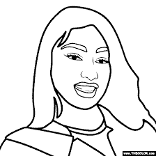 Match the colors to other objects of the same color or to the color names. Hip Hop Rap Star Online Coloring Pages