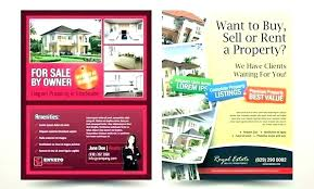 for sale by owner brochure property flyer template