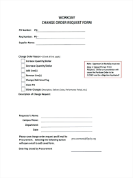 Template Project Change Order Template Excellent Contemporary
