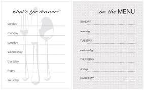 family menu template weekly dinner menu template expin franklinfire co