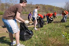 Image result for picking up trash volunteer pics