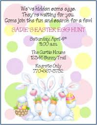 Easter Egg Hunt Custom Birthday Party Invitations