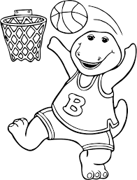 Small Picture Barney coloring pages to download and print for free
