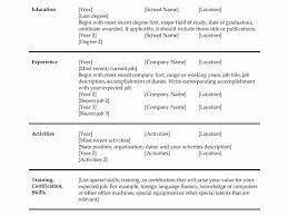 14 Lovely Microsoft Word Resume Templates Resume Sample Template