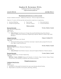 Mechanical Test Engineer Sample Resume - Free Letter Templates ...