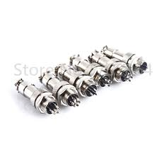 <b>10pcs GX12</b> 5Pin Male 12mm Screw Type Cable Panel Connector ...
