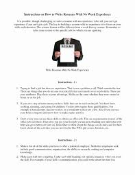 How To Do A Resume For A Job Sample Resume For First Job No Experience Fungramco 98
