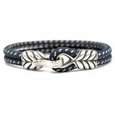 home by collection david yurman blue chevron double cable bracelet