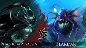 dota 2 slardar vs phantom assassin one click battle youtube